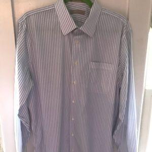 Nordstrom Trim Fit Stripped 16 1/2 Dress Shirt